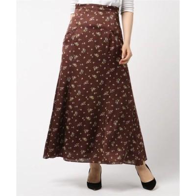 スカート グロッシーフラワースカート