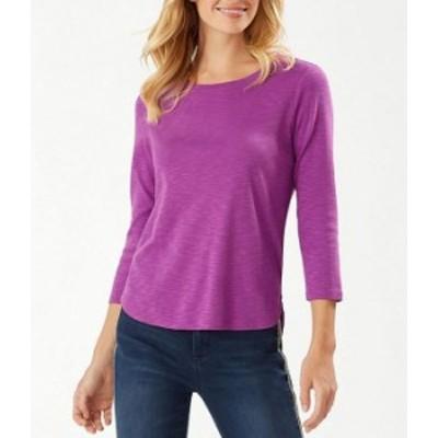 トッミーバハマ レディース Tシャツ トップス Ashby 3/4 Sleeve Tee Purple Cho