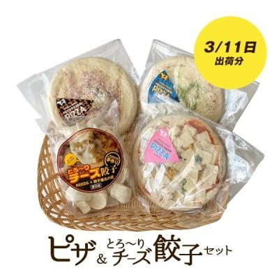 送料無料!ピザ&とろ〜りチーズ餃子セット(3月11日出荷)