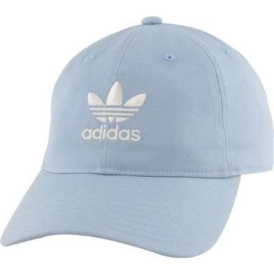 アディダス オリジナルス メンズ adidas Originals Washed Relaxed Strapback キャップ 帽子 Clear Sky Blue