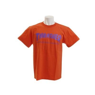 スラッシャー(THRASHER) 【多少の傷汚れありの為大奉仕】Tシャツ メンズ 半袖 THRASHER MAG LOGO TH8101OG/VO オンライン価格 (メンズ)