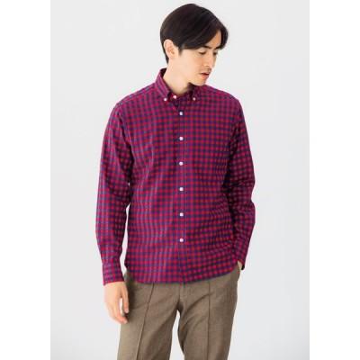 SCENE(R)/シーン 7DAYSジャパンメイドシャツシリーズ ツイルレッドチェック PC7318