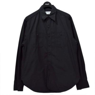 【6月17日値下】SASSAFRAS SPRAYER SHIRT リップストップ ワークシャツ ブラック サイズ:M (梅田クロス茶屋町店)