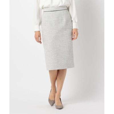 【ノーリーズ】 綾織ツイードスカート レディース ホワイト系4 38 NOLLEY'S