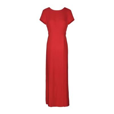 8 by YOOX ロングワンピース&ドレス レッド 44 ポリエステル 100% ロングワンピース&ドレス