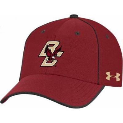 アンダーアーマー メンズ 帽子 アクセサリー Under Armour Men's Wisconsin Badgers Red Isochill Adjustable Hat
