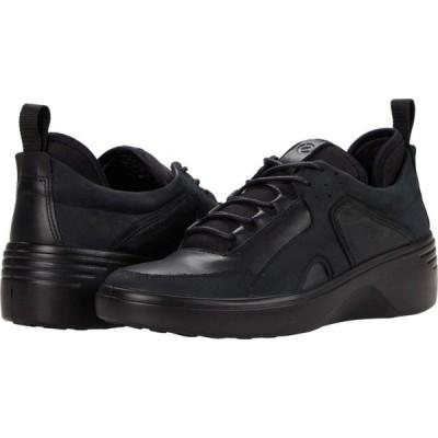 エコー ECCO レディース スニーカー ウェッジソール シューズ・靴 Soft 7 Wedge City Sneaker Black/Black Yak Nubuck/Cow Leather
