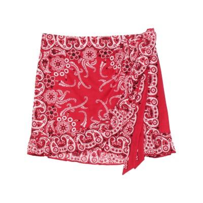 フォルテクチュール FORTE DEI MARMI COUTURE ミニスカート レッド 40 コットン 100% ミニスカート