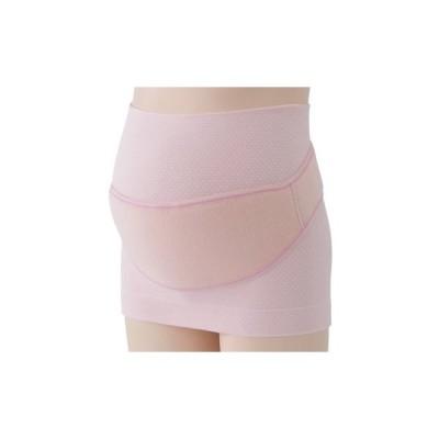 (妊娠初期〜後期)犬印はじめて妊婦帯セット(妊婦帯+補助ベルト)腹巻タイプ妊婦帯 HB8106ピンクマタニティM−L