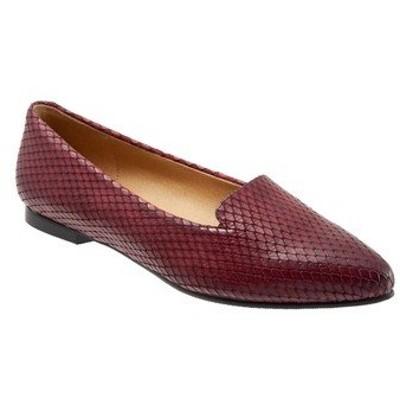 トロッターズ スリッポン・ローファー シューズ レディース Harlowe Pointed Toe Loafer Burgundy Leather