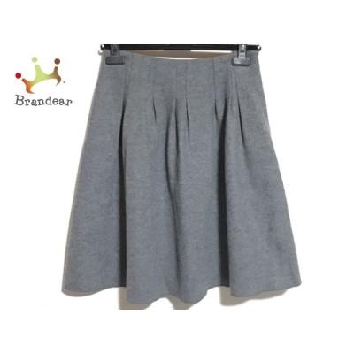 エムズグレイシー M'S GRACY スカート サイズ38 M レディース 美品 - グレー ひざ丈  値下げ 20210410