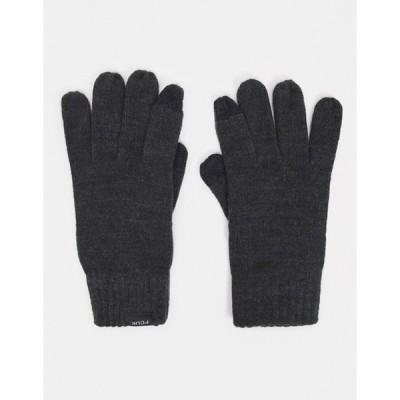 フレンチコネクション メンズ 手袋 アクセサリー French Connection touch screen gloves in charcoal