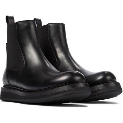 リック オウエンス Rick Owens レディース ブーツ チェルシーブーツ シューズ・靴 leather chelsea boots Black
