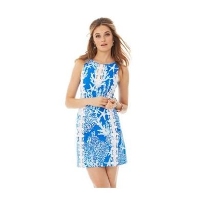 ワンピース リリーピュリッツァー Lilly Pulitzer Ember Shift Brewster Blue Good Reef Dress Starfish 2 4 8 10