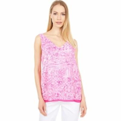 リリーピュリッツァー Lilly Pulitzer レディース ノースリーブ Vネック トップス Reversible Florin Sleeveless V-Neck Pink Blossom Pa
