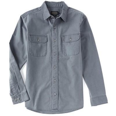 ペンドルトン メンズ シャツ トップス Beach Shack Solid Long-Sleeve Woven Shirt Faded Blue
