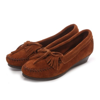 ミネトンカ MINNE TONKA KILTY WEDGE(Brown)