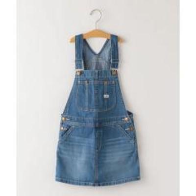 シップスLee:デニム オーバーオール スカート(130~150cm)【お取り寄せ商品】