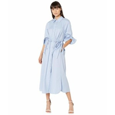 ジェイソンウー レディース ワンピース トップス Open Back Poplin Shirtdress Oxford Blue
