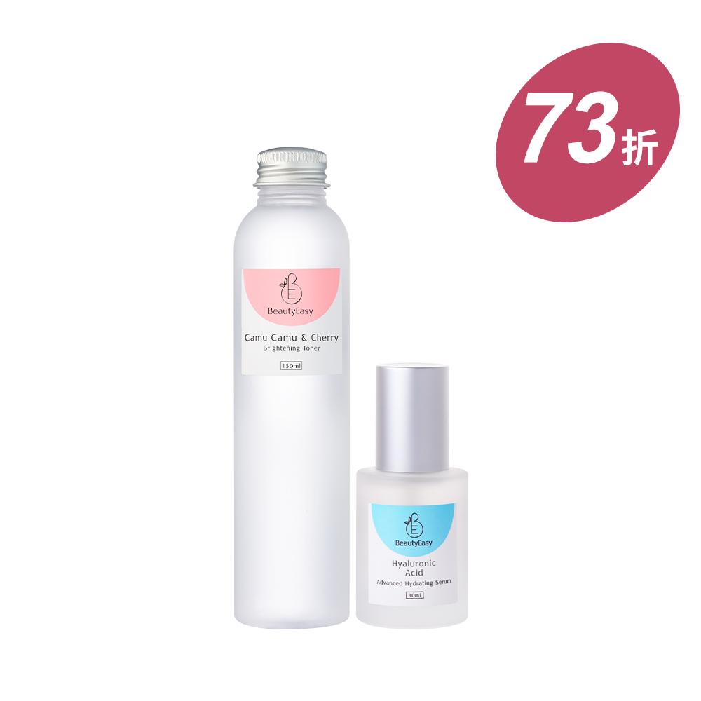 亮白化妝水+玻尿酸精華組