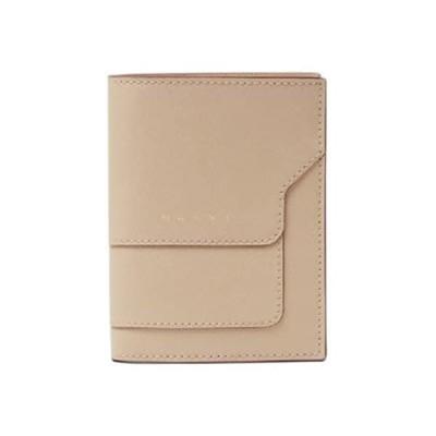 マルニ MARNI レディース 2つ折り財布 サイフ PFMOQ14U07 LV520 Z433O ベージュ 2122aw (ベージュ) [並行輸入品