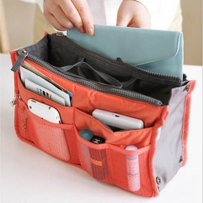 手提げバッグ 整理ポーチ 化粧ポーチ メイクボックス コスメポーチ バッグインバッグ 多機能