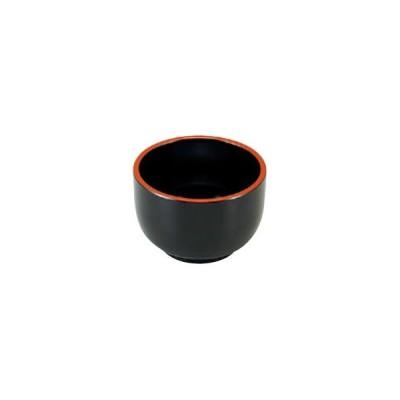 (業務用・3.2寸)3.2寸入子深鉢 黒天朱 310cc(入数:5)