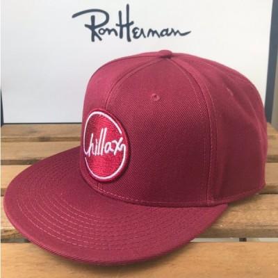 RHC Ron Herman (ロンハーマン): Chillax ロゴ ウールキャップ (Burgundy)