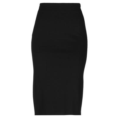 レ コパン LES COPAINS ひざ丈スカート ブラック 46 レーヨン 65% / ナイロン 29% / ポリウレタン 6% ひざ丈スカート