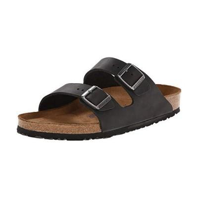 BIRKENSTOCK Arizona Soft Footbed - Leather (Unisex) Black Oiled Leather 43 (US Men's 10-10.5, US Women's 12-12.5) Regular