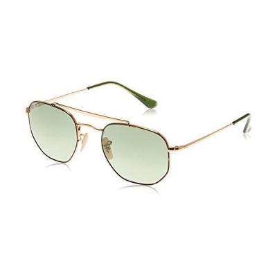 Ray-Ban unisex adult Rb3648 the Marshal Sunglasses, Havana/Green Gradient, 54 mm US【並行輸入品】