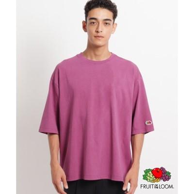 OPAQUE.CLIP MEN(オペークドットクリップ メン)フルーツオブザルーム5分袖BIGTシャツ