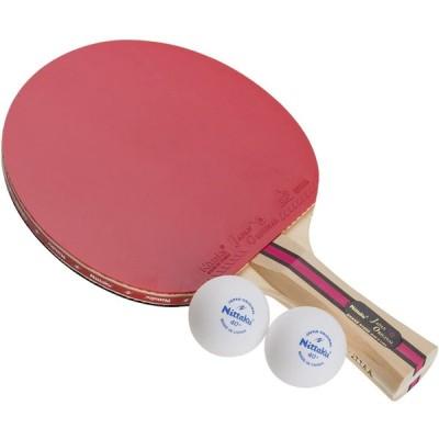ニッタク(Nittaku) 卓球ラケット 貼り上がり ジャパンオリジナルプラス シェークハンド #1000 NH-5131 レッド×ブラック