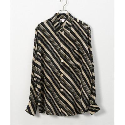 【ジャーナルスタンダード】 ベースパターンシャツ メンズ ブラック 48 JOURNAL STANDARD