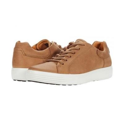 ECCO エコー メンズ 男性用 シューズ 靴 スニーカー 運動靴 Soft 7 Street Perforated Sneaker - Camel Nubuck Leather
