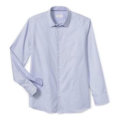 ジョンストンアンドマーフィー メンズ シャツ トップス Collection Textured Windowpane Long-Sleeve Woven Shirt Purple