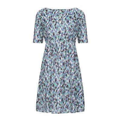 BINI Como ミニワンピース&ドレス ブルーグレー 40 シルク 97% / ポリウレタン 3% ミニワンピース&ドレス
