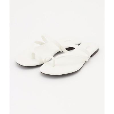 ICB 【マガジン掲載】Flat Sandals サンダル(番号CM24) (ホワイト)