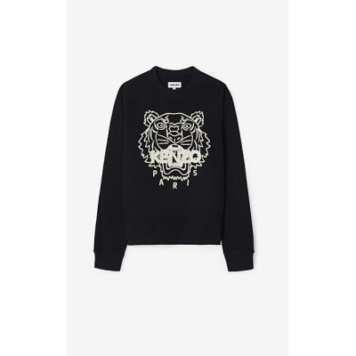 <KENZO (Men)/ケンゾー> スウェット SS21 Actua Tiger Emb Original Fit Sweatshirt M FB55SW1204MP 99クロ【三越伊勢丹/公式】