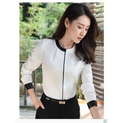 シャツ  レディース 安い フォーマル Yシャツ 3色入 激安 大きいサイズ 学生 スキッパーシャツ 細身 OL 通勤 とろみシャツ 上着 オフィス トップス 就活 面接