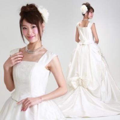 ウェディングドレス レンタル 9号 プリンセスライン ウエディングドレス ウェディング ドレス 披露宴 6413 送料無料