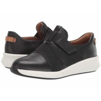 Clarks クラークス レディース 女性用 シューズ 靴 スニーカー 運動靴 Un Rio Strap Black Leather【送料無料】