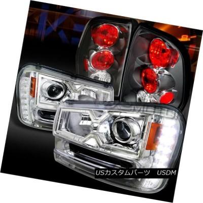 テールライト 02-09トレイルブレイザークロムSMD LED DRLプロジェクターヘッドライト+ Bla  ckテールラン