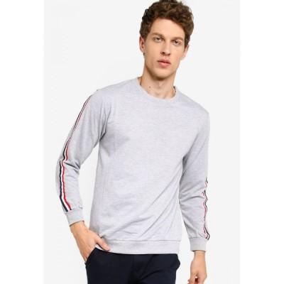 フィデリオ Fidelio メンズ スウェット・トレーナー トップス Tapered Casual Long Sleeve Sweatshirt Grey