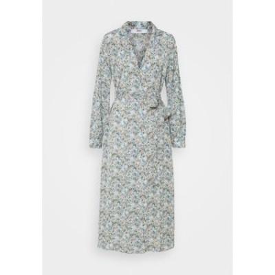 オンリー レディース ワンピース トップス ONLKENDALL DRESS - Day dress - pumice stone/blue pumice stone/blue