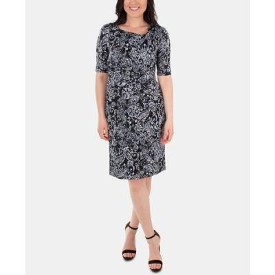 ニューヨークコレクション ワンピース トップス レディース Draped Printed Shift Dress Verbena