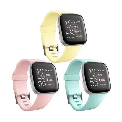 Weproバンド Fitbit Versa/Fitbit Versa 2/Fitbit Versa Lite SE スマートウォッチ対応 レディース