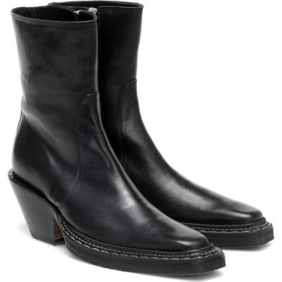 アクネ ストゥディオズ Acne Studios レディース ブーツ ウエスタンブーツ シューズ・靴 leather cowboy boots Black
