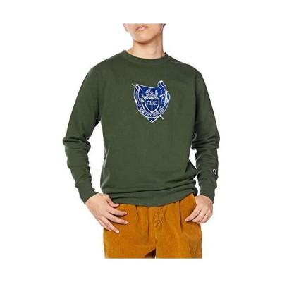[チャンピオン] トレーナー 長袖 裏毛 綿100% グラフィックエンブレム刺繍 クルーネックスウェットシャツ C3-R015