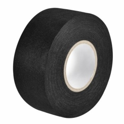 uxcell ワイヤーハーネステープ 布生地テープワイヤーハーネス 高粘度の自動車用 耐摩耗性 接着剤布生地テープ 35x15m ブラック